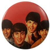 The Beatles - 'Group Red' Button Badge